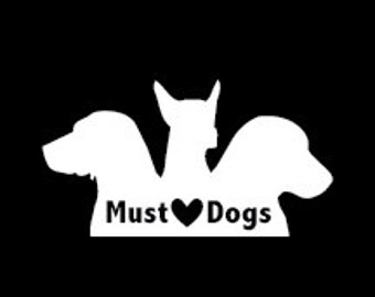 004 Must Love Dogs Decal