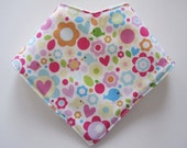 baby bandana bib - flowers and birds - girls