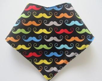 baby bandana bib ~ moustache for boys