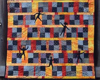Fiber Art, Wall Hanging, Contemporary Art Quilt, fiber art, wall hanging, home decor, African art quilt, wall art quilt, contempory art
