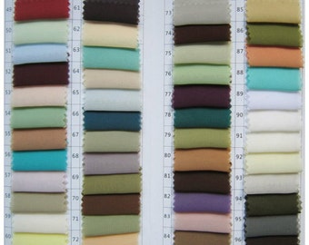 Color Swatch of Chiffon ,About 32 Most-used Colors