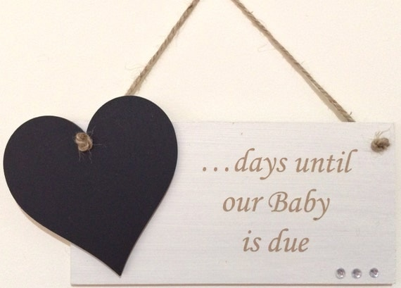 Expecting Baby Gifts Uk : Countdown pregnancy baby due gift chic hand finished wooden