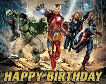 Avengers Birthday Banner