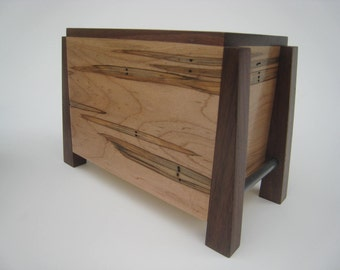 Modern Cremation Urn - Quietly and Pensively Made - Solid Hardwoods