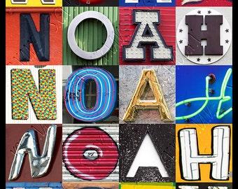 Noah Name Art Etsy