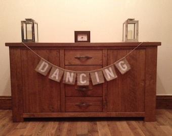 Dancing Vintage Wedding Hessian/Burlap Bunting
