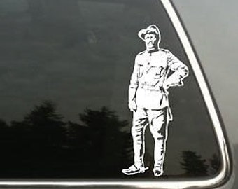 Theodore Teddy Roosevelt Decal Lg © 2013 Laced Up Decals SKU:Theodore Teddy Roosevelt decal Lg