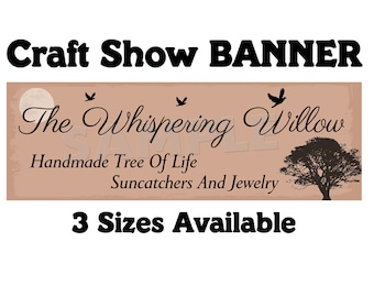 Vinyl Banner ~ Craft Show Business Banner 3 Sizes Available- Custom Made