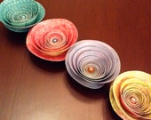 Origami Rose Fridge Magnets -- Set of Four -- Gifts, Party Favours, Wedding Favours -- Assorted Colours