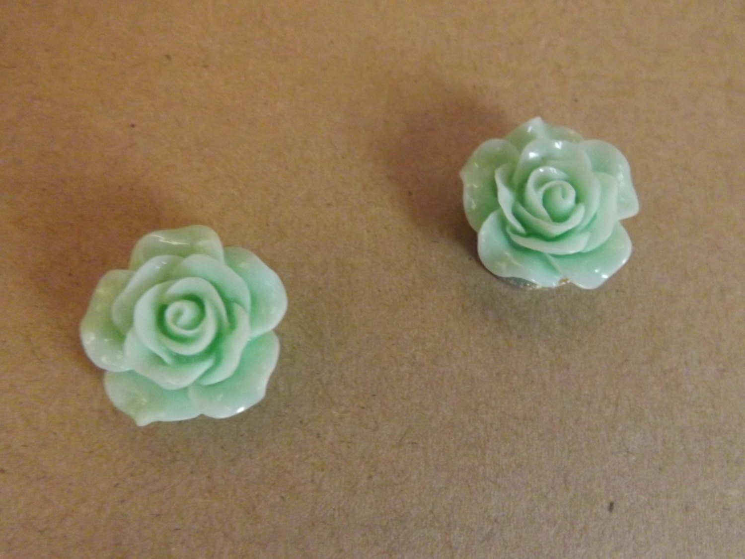 Light Green Flower Cabochon Magnet Ls 314 By Minealways On