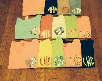 Customized Comfort Color tanks and tees