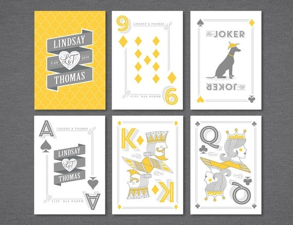Items Similar To Playing Cards Wedding Favor