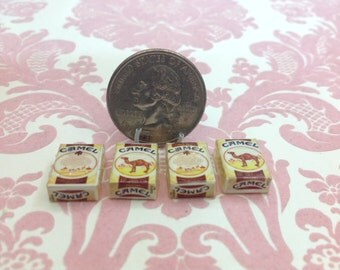 Dollhouse Miniature Camel Cigarette 4 pcs