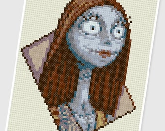 PDF Cross Stitch pattern - 0255.Sally ( Nightmare Before Christmas ) - INSTANT DOWNLOAD