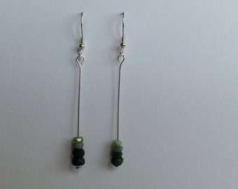 Sterling Silver and Emerald Earrings