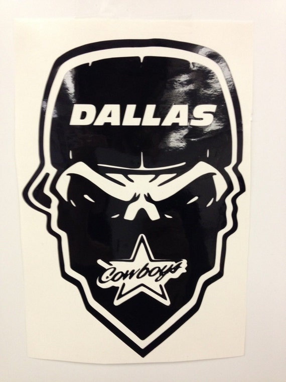 Dallas Cowboy Skull Decal Free Shipping