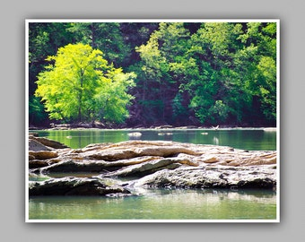 Instant Download. JPG. The Beautiful Chattahoochee River. Nature/Landscape Photography/Photograph Print. Wall Art, Fine Art