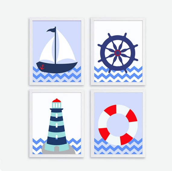 Items similar to Printable Ships wheel, Sailboat ...