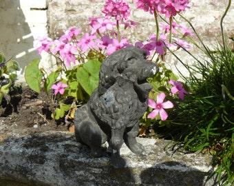 antique small dog cast iron
