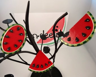 Acrylic set of 3 Watermelon Magnets