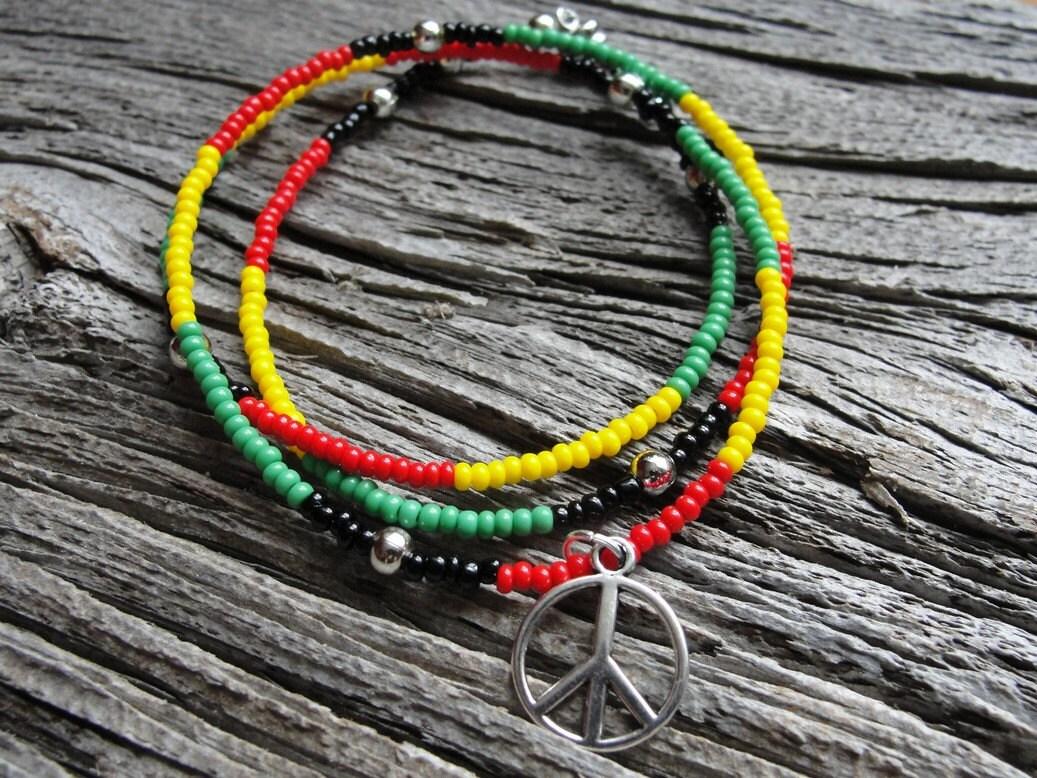 wrap bracelet rasta seed bead wrap bracelet yellow