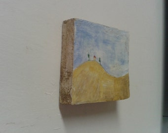 small wooden painted