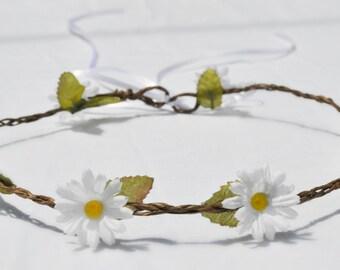 Margerite Flower Crown / Beautiful headpiece / White Flower Crown / Simple Flowers / Summer