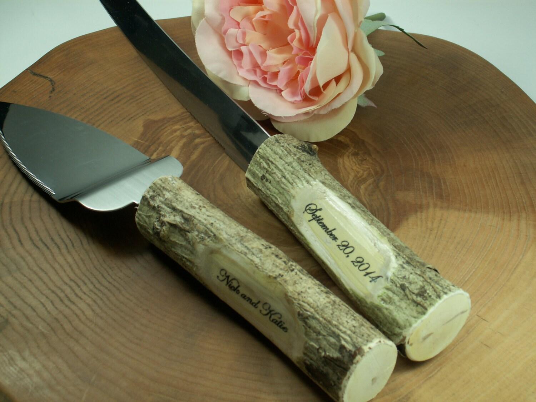 Rustic Wedding Cake Knife Set Personalized By WeddingDecorMargaret