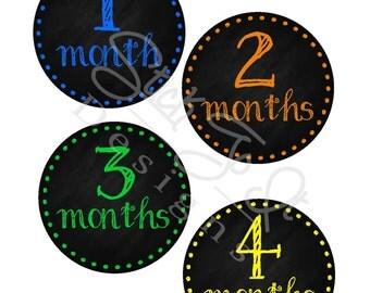 Milestone Stickers, Baby Month Stickers, Monthly Stickers, Monthly Baby Sticker, Baby Shower Gifts, Baby Month Sticker Boy, Chalk, B12