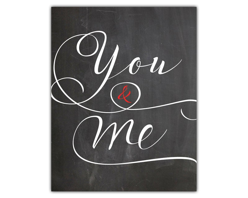 Me To You Wedding Gifts: You And Me Print Wedding Gift For Couple Anniversary Gift