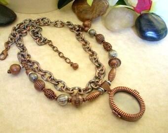 Antiqued Copper Locket