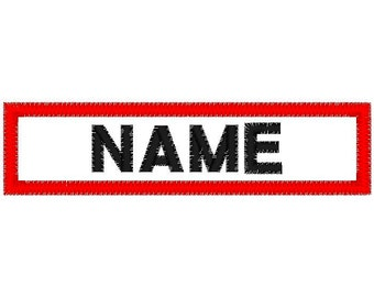 Custom 1 x 4 Embroidered name patch