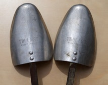 Vintage Set of Two Shoes Shapers / Horns Gents 10 x 11 || Trulast Made in England || Aluminum