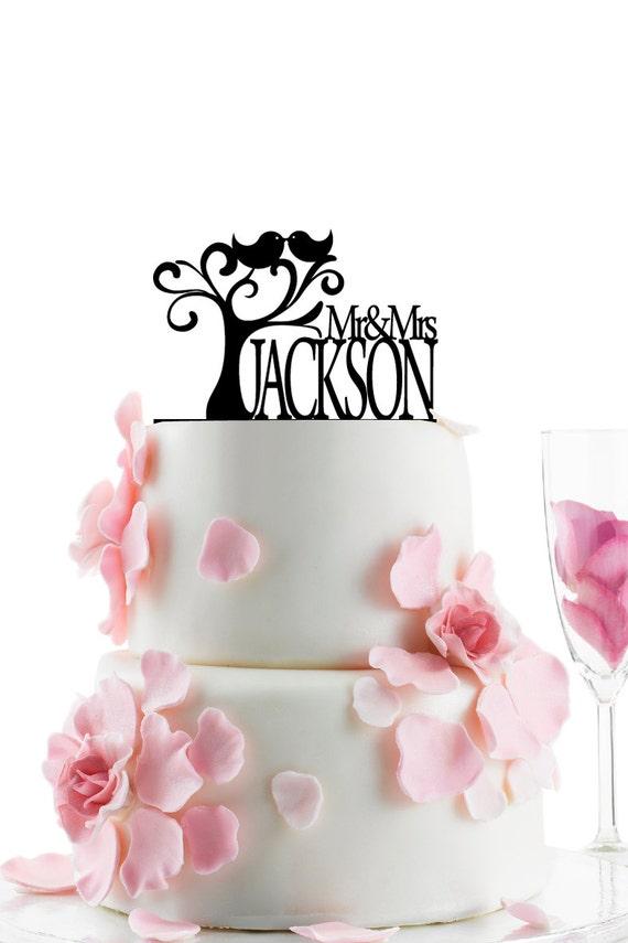 Wedding Accessories Custom Wedding Cake Topper Personalized