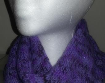 Purple Shimmer Slanting Stripes Scarf