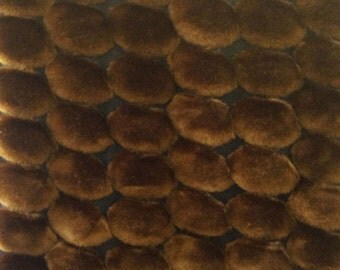Faux Fur Bubble Brown 58 Inch Fabric by the Yard, 1 yard.