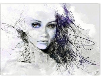 Dreams Girl Canvas Wall Art Startonight Abstract Home and Kitchen Decor
