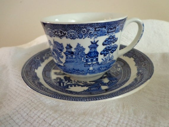 Johnson Brothers China Blue And White Blue Willow Johnson Brothers