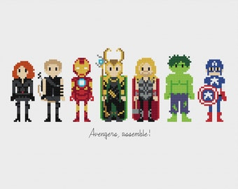 Avengers, Assemble! Cross Stitch Pattern PDF Instant Download