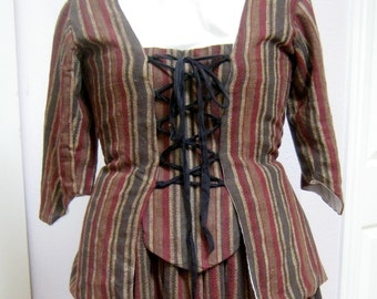 Women's 18th century short jacket with stomacher panel