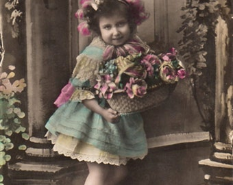 Vintage French postcard, ± 1914.