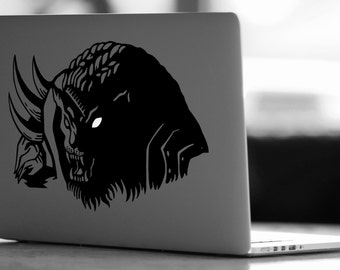 Rengar with glowing eye Vinyl Decal - League of Legends Decal - Laptop Decal - Vinyl Ipad Decal - Computer Decal - Computer Sticker