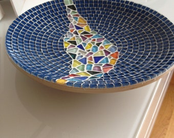 mosaic design bowl,handcrafted bamboo mosaic bowl, mosaic art home decoration, glass mosaic bamboo bowl blue, multicolor bamboo bowl