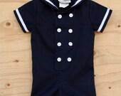 Vintage 1960s Sailor Romper So Cute! size 12M