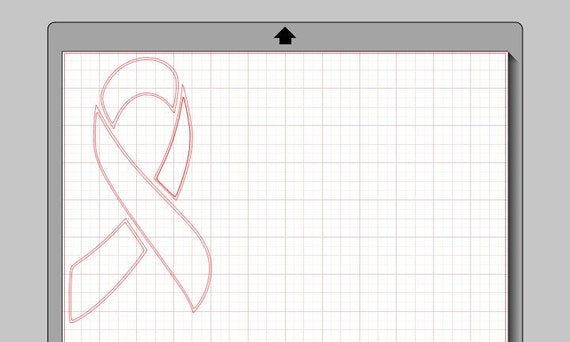 Awareness Ribbon - Silhouette Studio File and JPG
