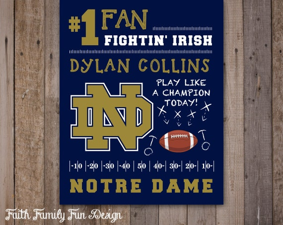 Irish Man Cave Signs : Items similar to notre dame fighting irish team sign
