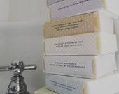 Any six soaps   handmade vegan soap