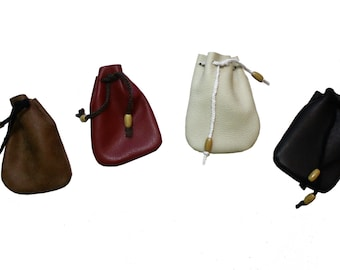 Medieval leather coins Bag, Wedding Ring Holder, Coins pouch, Amulet bag