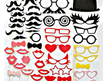 Sale !!! DIY 50 Photo Booth Props Photobooth prop On a Stick Mustache Moustache Party Little Man Gender Reveal Bash Weddings