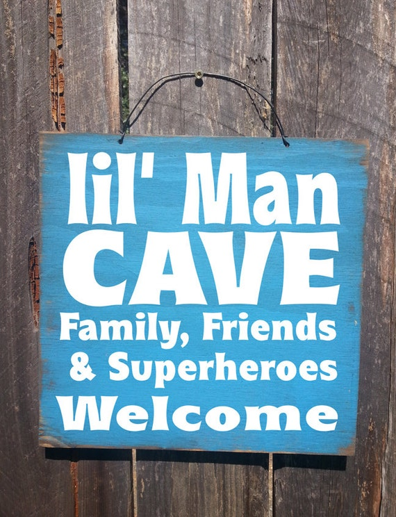 Lil Man Cave Ideas : Lil man cave sign boys bedroom nursery decor